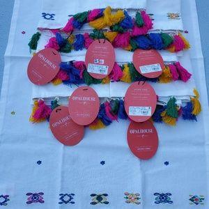 8 Opal House Feista Tassels Cotton Kitchen Towels